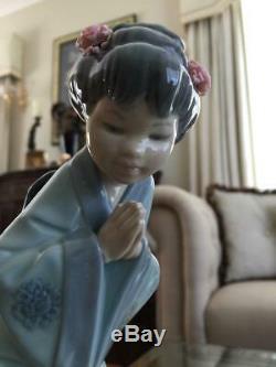 1978 Retired LLADRO ORIENTAL Figurine SAYONARA # 4989 ExCond Japanese Geisha