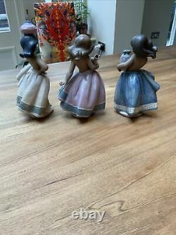 3 X Lladro Gres Peasant Girl 2331. 2332 and 2333