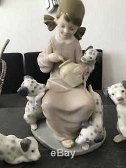 3x RARE LLADRO DALMATIAN DOGS 1261 1262 1248 Honey Lickers DALMATION