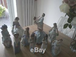 9 Nao Figurines and 1 lladro figurine