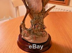 A Stunning Boxed Lladro 1611 Courting Cranes Figure On Stand