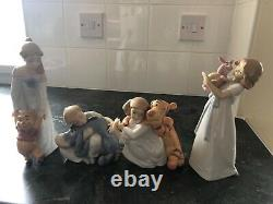 All 4 Nao by Lladro Disney Winnie the Pooh figurines excellent condition