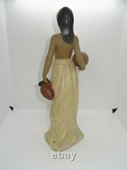 Attractive 14 Lladro Spain Figure Figurine 2323 Water Girl Gres/Matt Finish