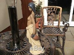 BEAUTIFUL Lladro 2323 WATER GIRL jugs woman nude figurine GRES Finish 1995