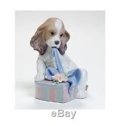 Can't Wait! Lladro Porcelain Dog Collectible Ornament New & Boxed SALE FROM £205