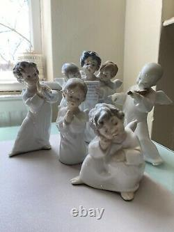 Collection of Five Lladro Angel Figurines