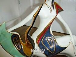 Exquisite Huge Galos Spanish Porcelain Art Deco Style Semi Naked Lady Figurine