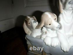 Exquisite Lladro Figure Pups In A Box 1121 1st Excellent Mega Rare