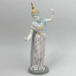Fine Lladro Porcelain Balinese Female Dancer Figure #5593 Retired In 1993