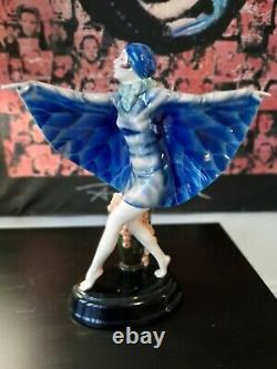Goldscheider Joseph Lorenzyl Largest Butterfly Girl 18.6in Beautiful & Rare