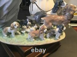 LLADRO PRIVILEGE 06784 Puppy Parade La gran familia Figurine Dogs Figure