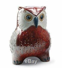 LLADRO Porcelain Gres Finish LARGE OWL (RED) (01012533)