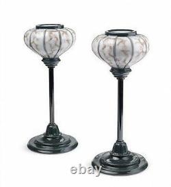 LLADRO Porcelain JAPANESE LAMPSTANDS (PAIR) (01008454)