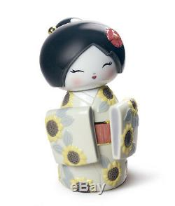 LLADRO Porcelain KOKESHI IV (SUNFLOWERS) 01008712