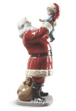 LLADRO Porcelain MERRY CHRISTMAS SANTA! 01009254 Size 38x13cm Height15
