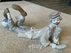 Large Lladro 4618 CLOWN LYING DOWN WITH BALL