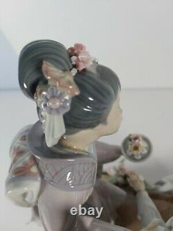 Large Lladro Figurine Spring Time In Japan Model No. 1445, Appr. 30cm Tall