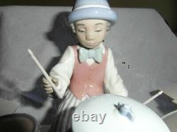 Large Lladro -jazz Drums- Band Figure Model 5929 Young Drummer Boy