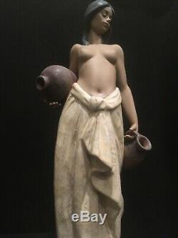 Large Rare LLADRO Water Girl Figurine 2323 Mint Condition Boxed Vintage