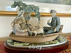 Lladro 01005216 On the Lake Porcelain Figurine Perfect Condition