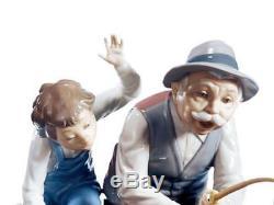 Lladro 1005215 Fishing With Gramps Womens Handmade Porcelain Figure Figurine