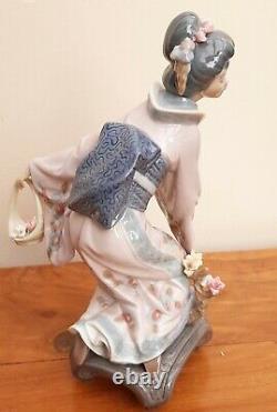 Lladro 1448 MICHIKO Geisha with Flower Basket Perfect