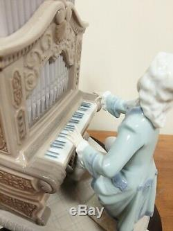 Lladro #1801 Young Bach Playing the Organ Ltd Edt Retired VGC Boxed & COA