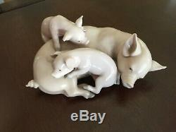 Lladro 3 Pigs Figurine 1983