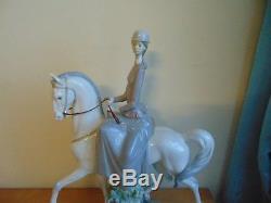 Lladro 4516 Woman On Horseback Pristine Large