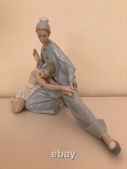 Lladro #4935 Closing Scene Ballet Dancers Jester Clown Gloss Glaze Free Shipping