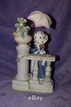 Lladro #5284 Glorious Spring Figurine Girl with Flowers Parasol Retired