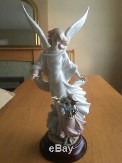Lladro 6352 Guardian Angel Porcelain Figurine Glazed Limited Edition 2199/4000