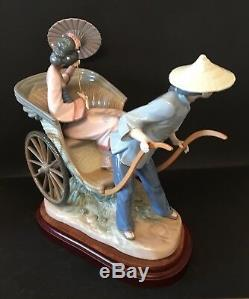 Lladro A Rickshaw Ride. 1383. 12.25''. With stand