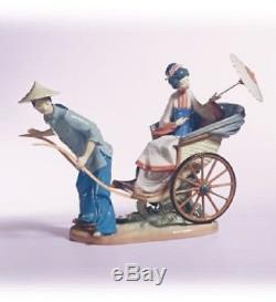 Lladro A Rickshaw Ride. 1383. 12.25'' wide