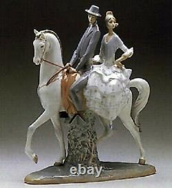Lladro Andalucians Group. 4647. Man and woman on horseback. Large piece