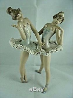 Lladro Ballerina Figurine Dress Rehersal Ref. 5497 Lace Tutus