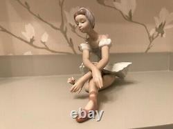 Lladro Ballerina Figurine Rose Ballet Mint In Original Box