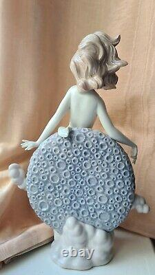 Lladro Blue Moon figurine hand glazed RARE damage free porcelain