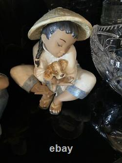 Lladro Boy's Best Friend (GRES) Retired 2004 NOT NAO PERFECT CONDITION