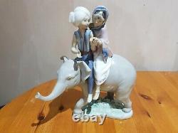 Lladro Children on an Elephant 5352