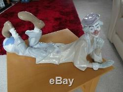 Lladro Clown Lying Down With Ball 4610