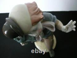Lladro Clown With Alarm Clock #5056 Large Figurine Retired 1985