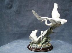 Lladro Cranes Stunning Large Sculpture lladro ref 01001456 £1000 OFF Tiny fault