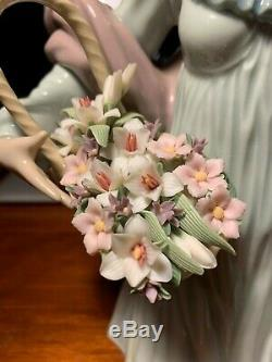Lladro Dama Con Cesta De Flores / Nature's Beauty / 06252