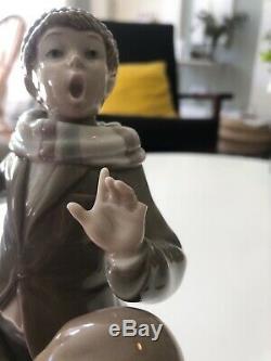 Lladro Figurine 3 Children+ Dog Singing 1239 Christmas Carol 24cm 9.5 Lladró