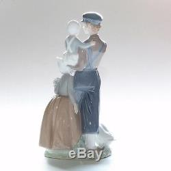 Lladro Figurine, Dutch Children, 4974, 13.75 Inches Tall