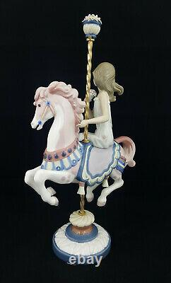Lladro Figurine Girl On Carousel Horse Model 1469 Boxed Restored