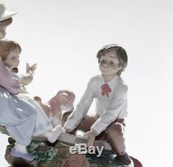 Lladro Figurine, Seesaw Friends, 6169, With Base