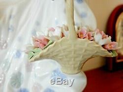 Lladro Figurine Spring Splendor Splendour Girl With Flower Basket N5898 Mint