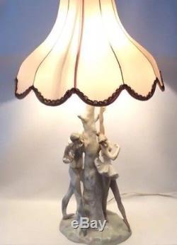 Lladro Figurine Table Lamp Harlequin Ballerina 4528 Lladró 42cm 16.5 UK Plug